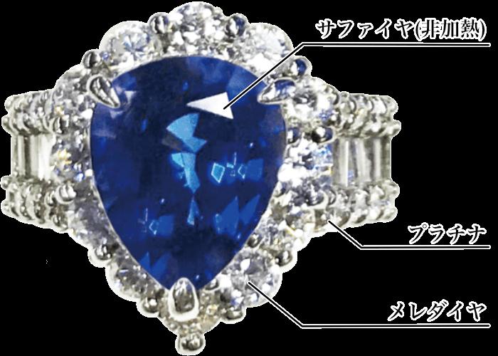 サファイヤ指輪