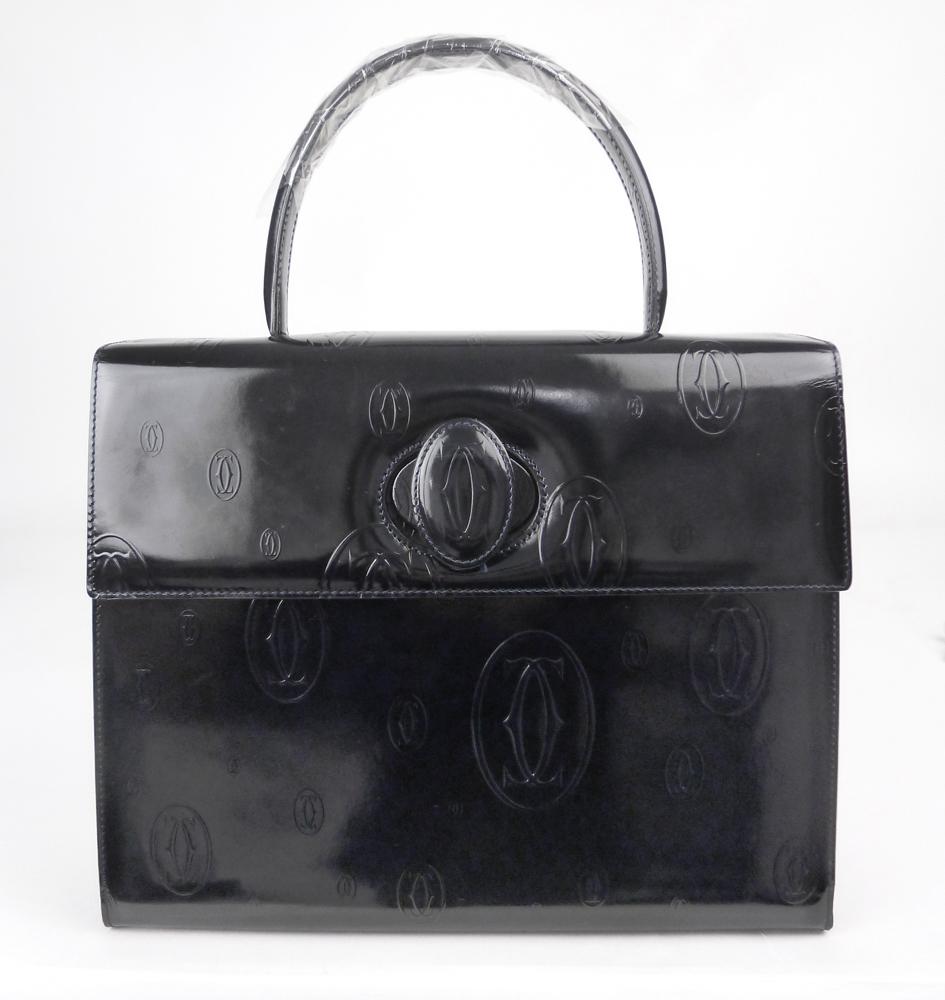 Cartier(カルティエ) ハッピーバースデイ ハンドバッグ パテントレザー