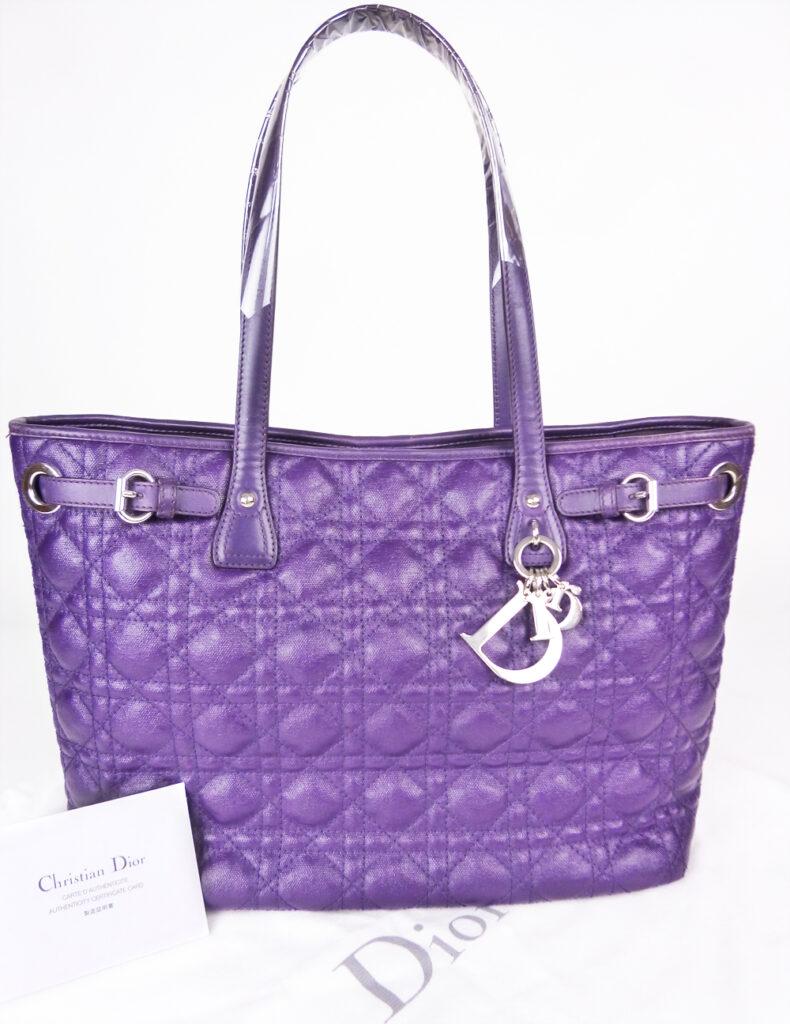 Christian Dior (クリスチャンディオール) パナレア トート 紫