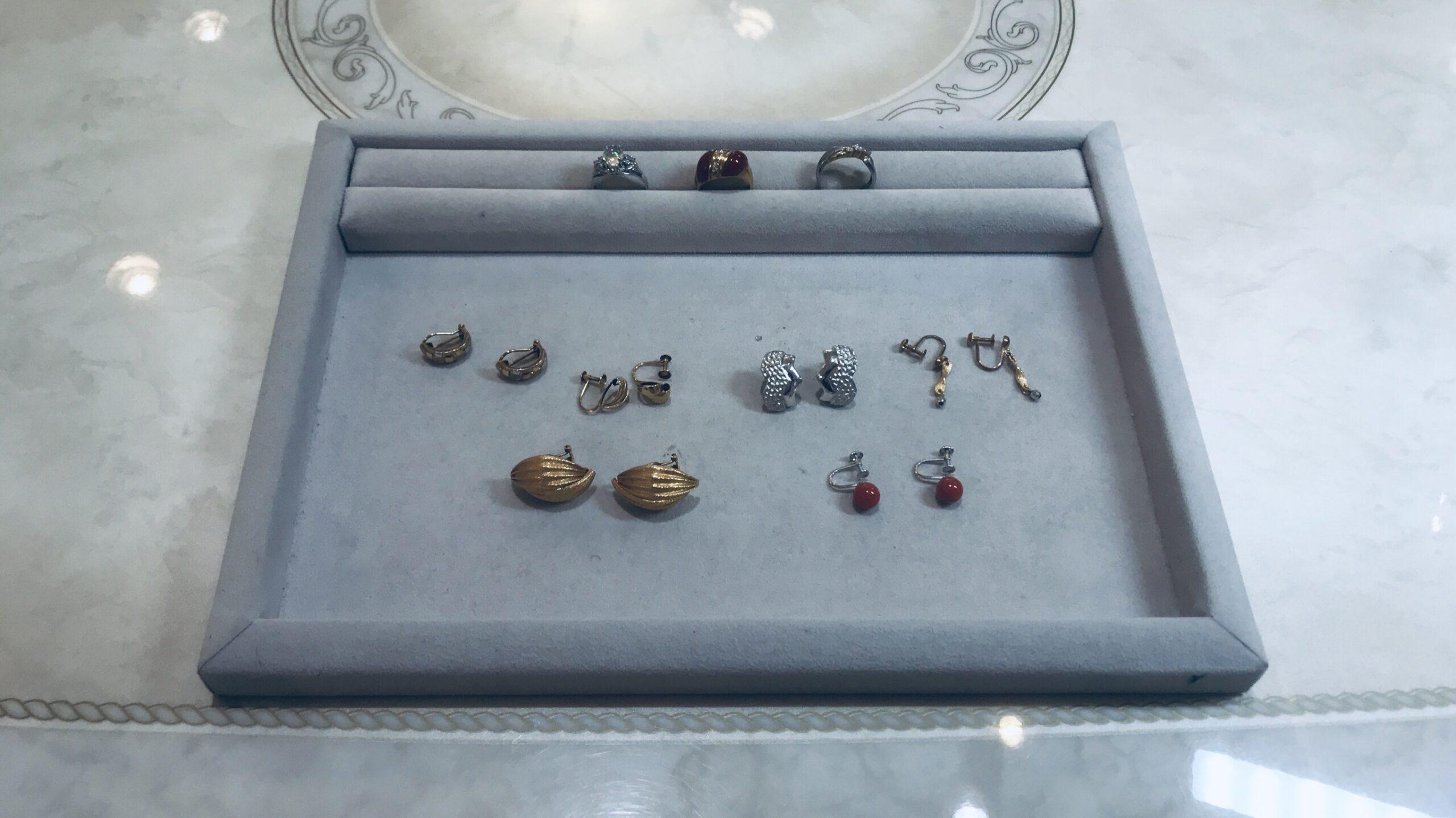 【買取速報】ダイヤモンド、メキシコオパール、珊瑚(コーラル)、ピアス・イヤリング、指輪、K14W-2020-08-16