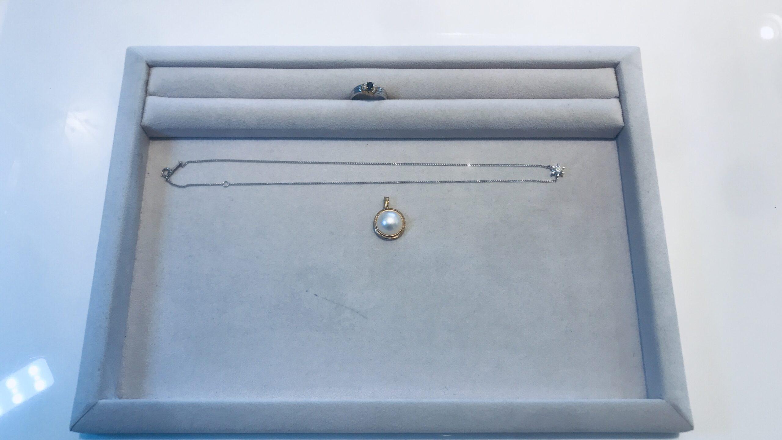 【買取速報】サファイヤ、ダイヤモンド、マベパール、ネックレス、ペンダントトップ、指輪、K18YG-2020-08-18