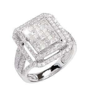 K18WGダイヤモンドリング商品画像