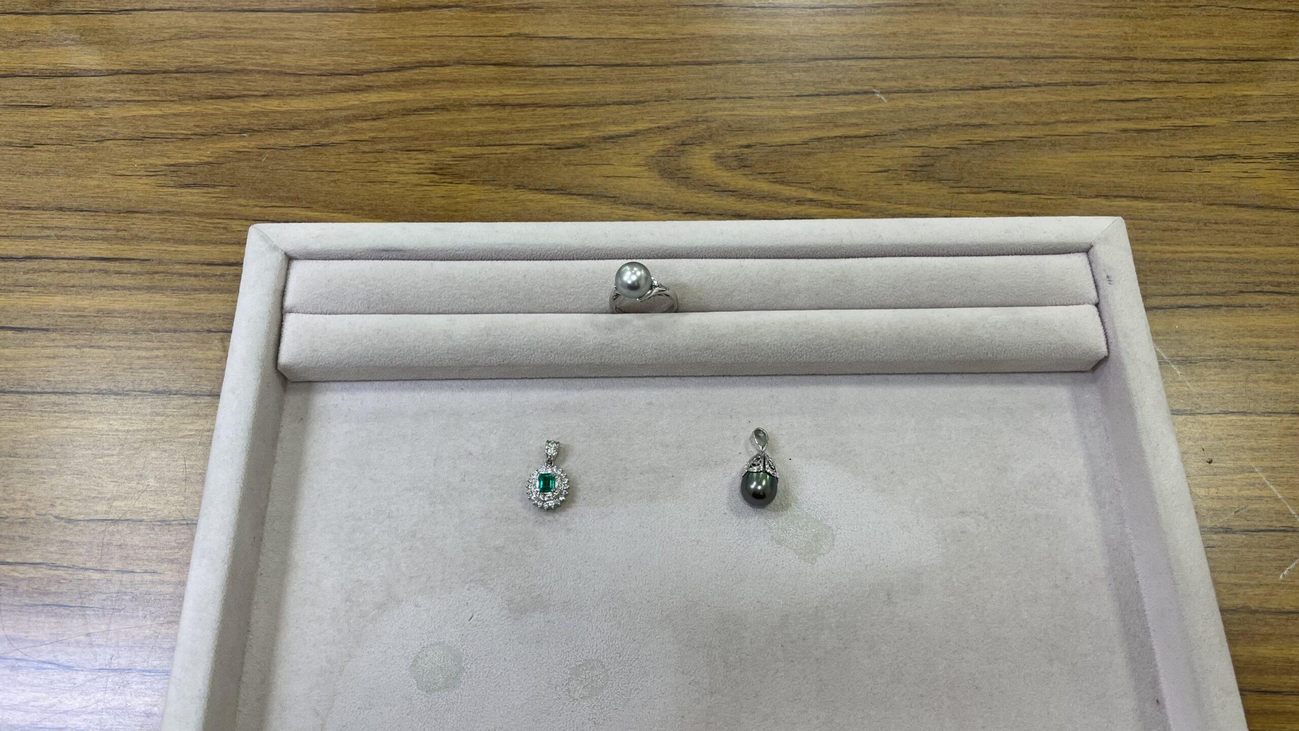 【買取速報】エメラルド、グレーパール、タヒチパール、ダイヤモンド、ペンダントトップ、指輪、K1-2021-02-13
