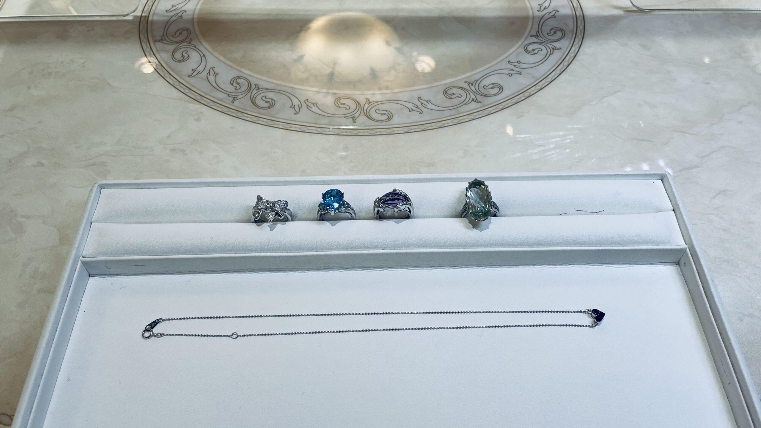 【買取速報】アメジスト、グリーンクォーツ、サファイヤ、ダイヤモンド、ブルートパーズ、ペンダン-2021-02-25