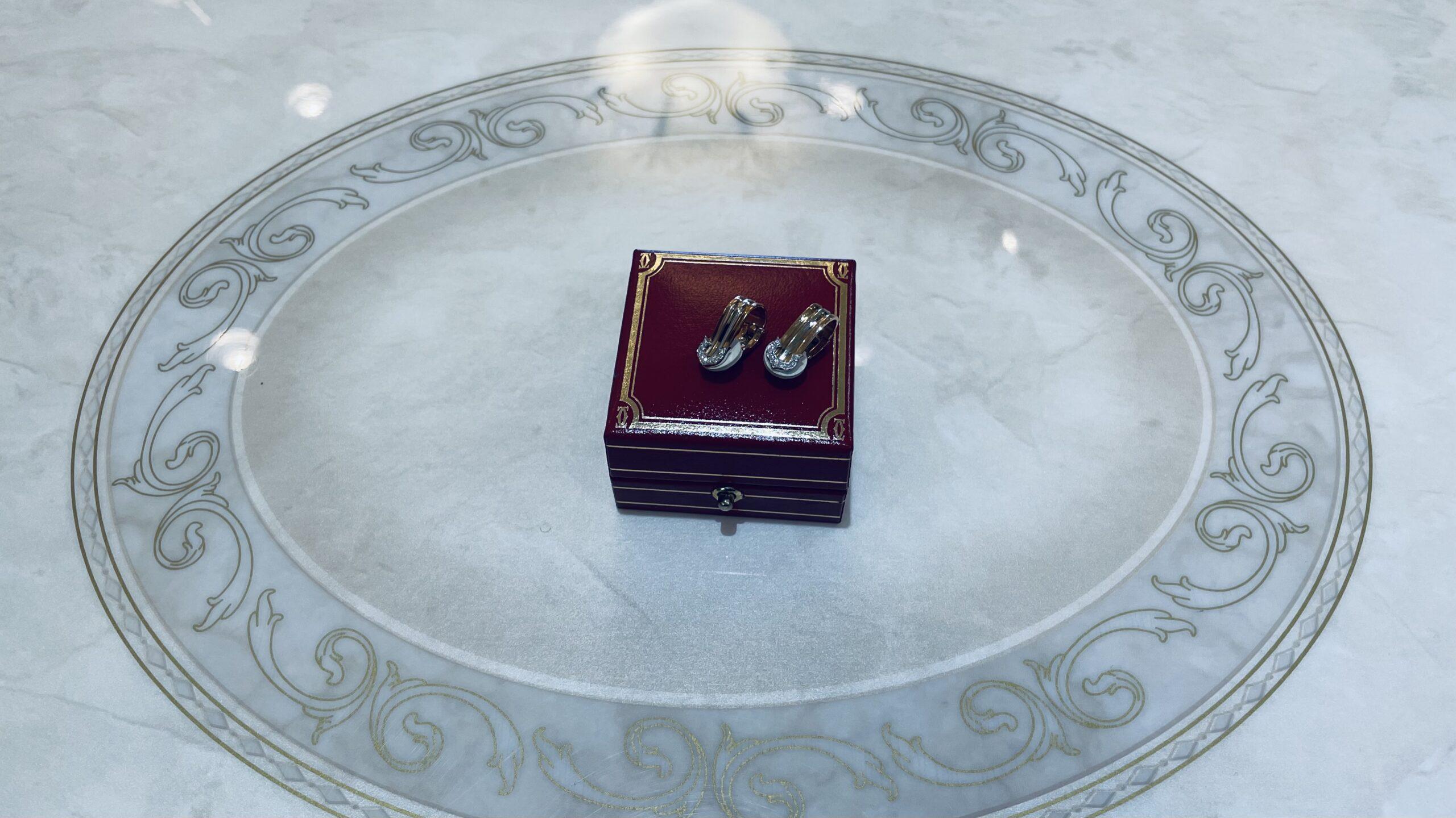 【買取速報】ダイヤモンド、ピアス・イヤリング、750、Cartier-2021-02-16