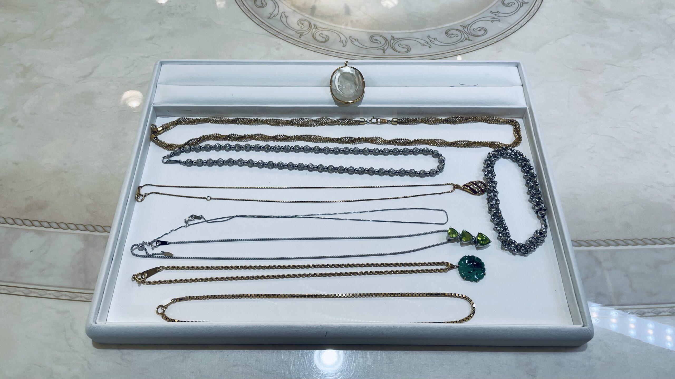 【買取速報】クオーツ、ダイヤモンド、ヒスイ、ペリドット、ルビー、ネックレス、ブレスレット、ペ-2021-03-11