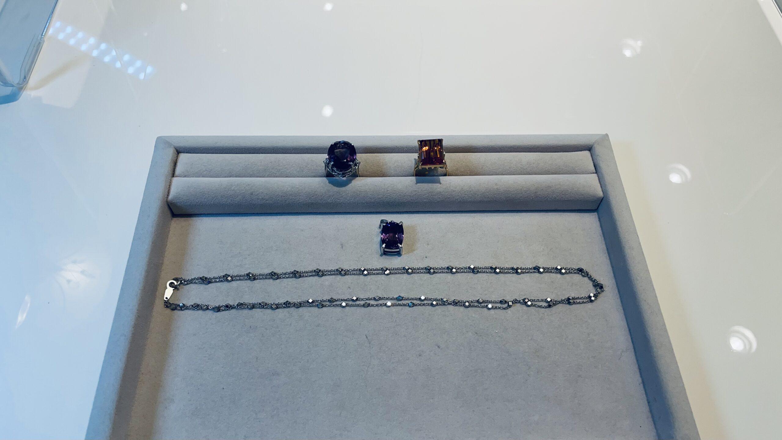 【買取速報】アメジスト、シトリン、ダイヤモンド、ネックレス、ペンダントトップ、指輪、K18YG、P-2021-03-23
