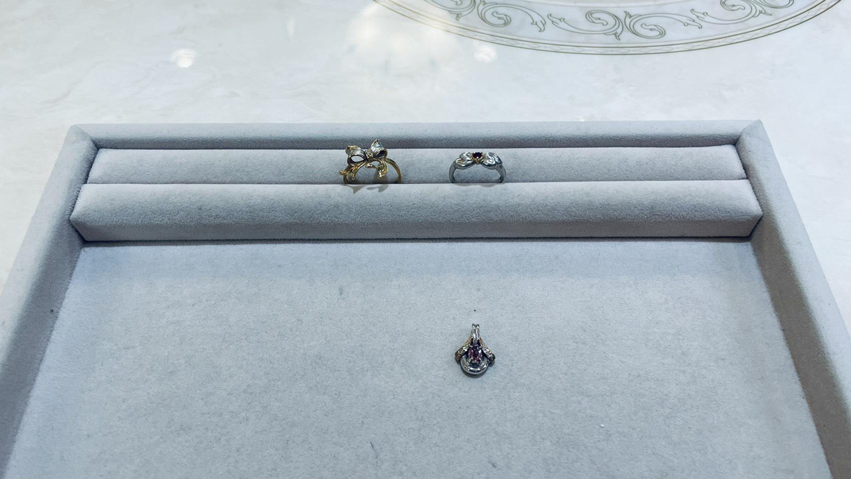 【買取速報】ダイヤモンド、ピンクトルマリン、ルビー、ペンダントトップ、指輪、K18YG、K9WG、K9Y-2021-03-11