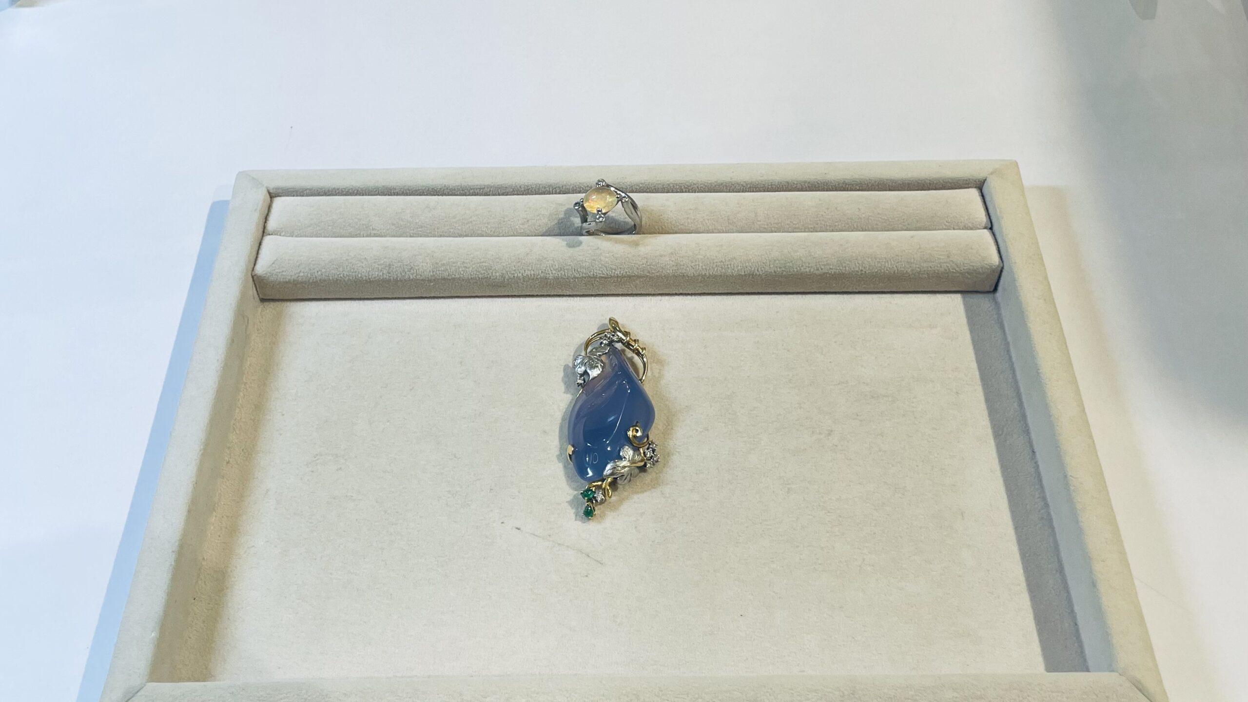 【買取速報】エメラルド、カルセドニー、ダイヤモンド、メキシコオパール、ペンダントトップ、指輪-2021-03-05
