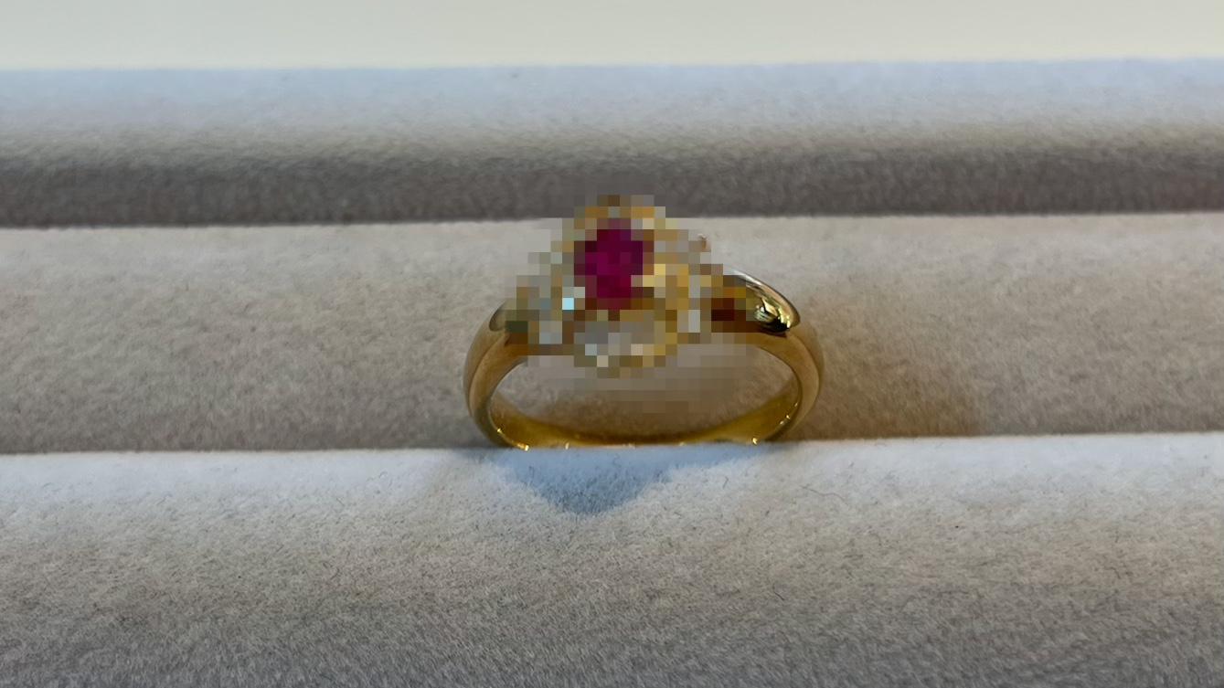 【買取速報】ダイヤモンド、ルビー、指輪、K18YG-2021-04-22