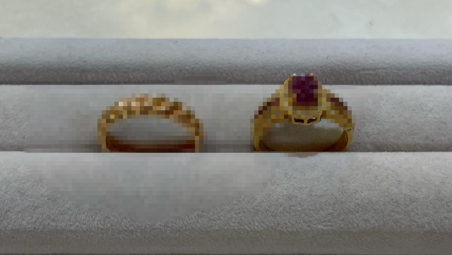 【買取速報】ダイヤモンド、ルビー、指輪、K18YG-2021-04-27