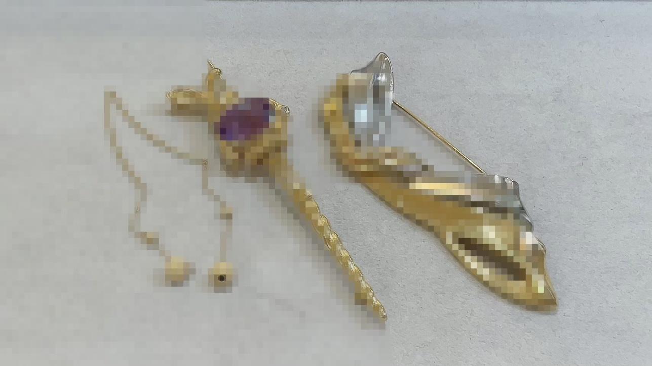 【買取速報】アメジスト、ダイヤモンド、ピアス・イヤリング、ブローチ、K18YG、PT900-2021-06-10