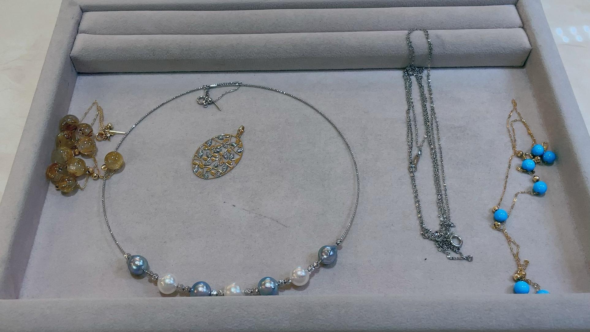 【買取速報】タヒチパール、ダイヤモンド、トルコ石、南洋パール、ネックレス、ペンダント、ペンダ-2021-08-31