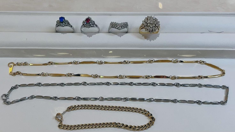 【買取速報】サファイヤ、ダイヤモンド、ルビー、ネックレス、ブレスレット、指輪、K18YG、PT850、-2021-08-05