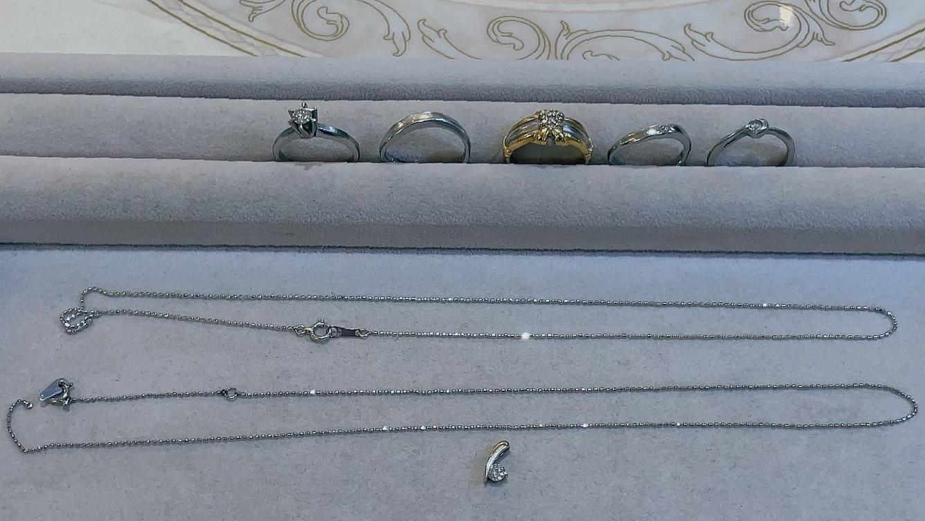 【買取速報】ダイヤモンド、ホワイトサファイヤ、ネックレス、ペンダント、ペンダントトップ、指輪-2021-08-07
