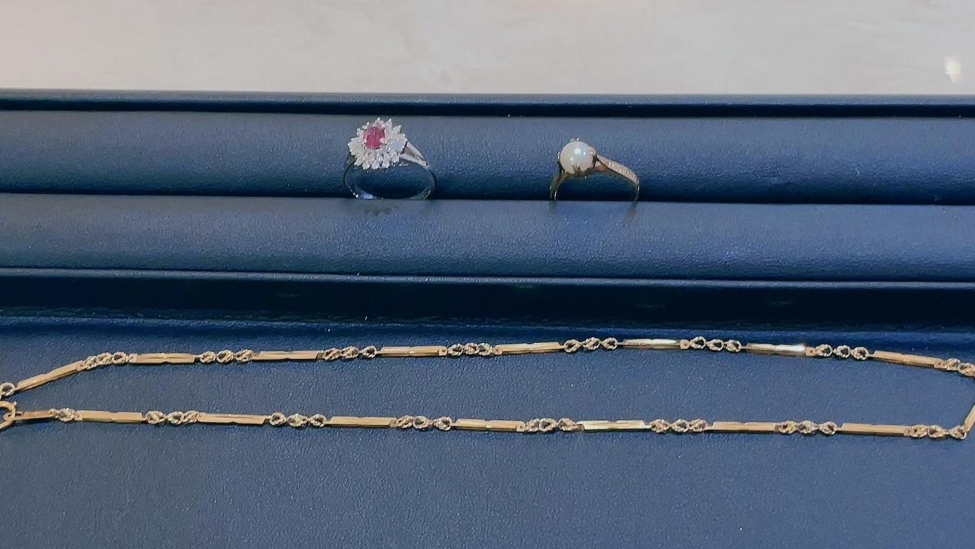 【買取速報】ダイヤモンド、パール、ルビー、ネックレス、指輪、K18YG、PT900-2021-08-31