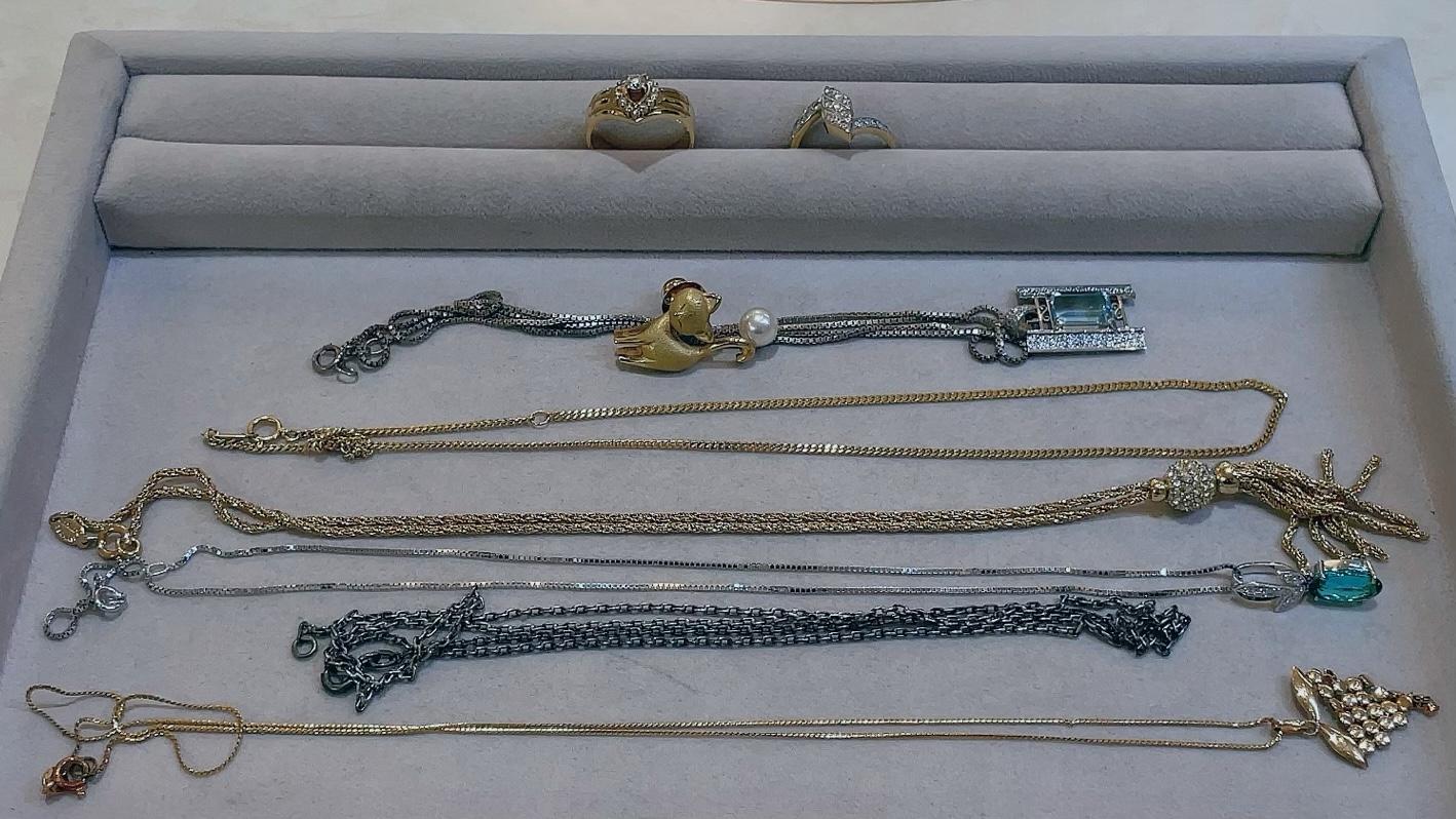 【買取速報】ダイヤモンド、トルマリン、パール、ネックレス、ブローチ、ペンダント、指輪、750、K-2021-08-08