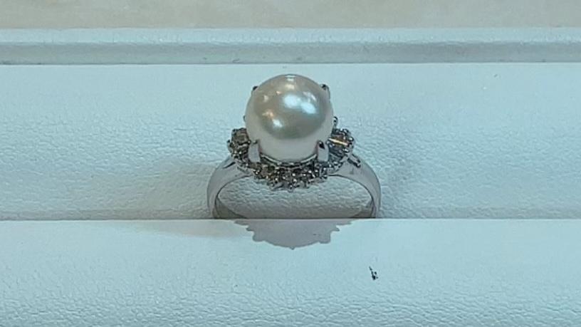【買取速報】ダイヤモンド、パール、指輪、PT900-2021-09-12