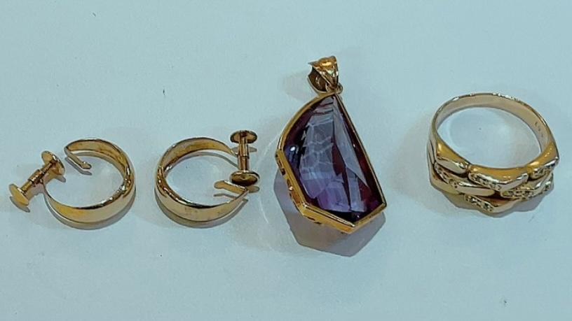 【買取速報】アメジスト、ダイヤモンド、ピアス・イヤリング、ペンダントトップ、指輪、K18YG-2021-09-04