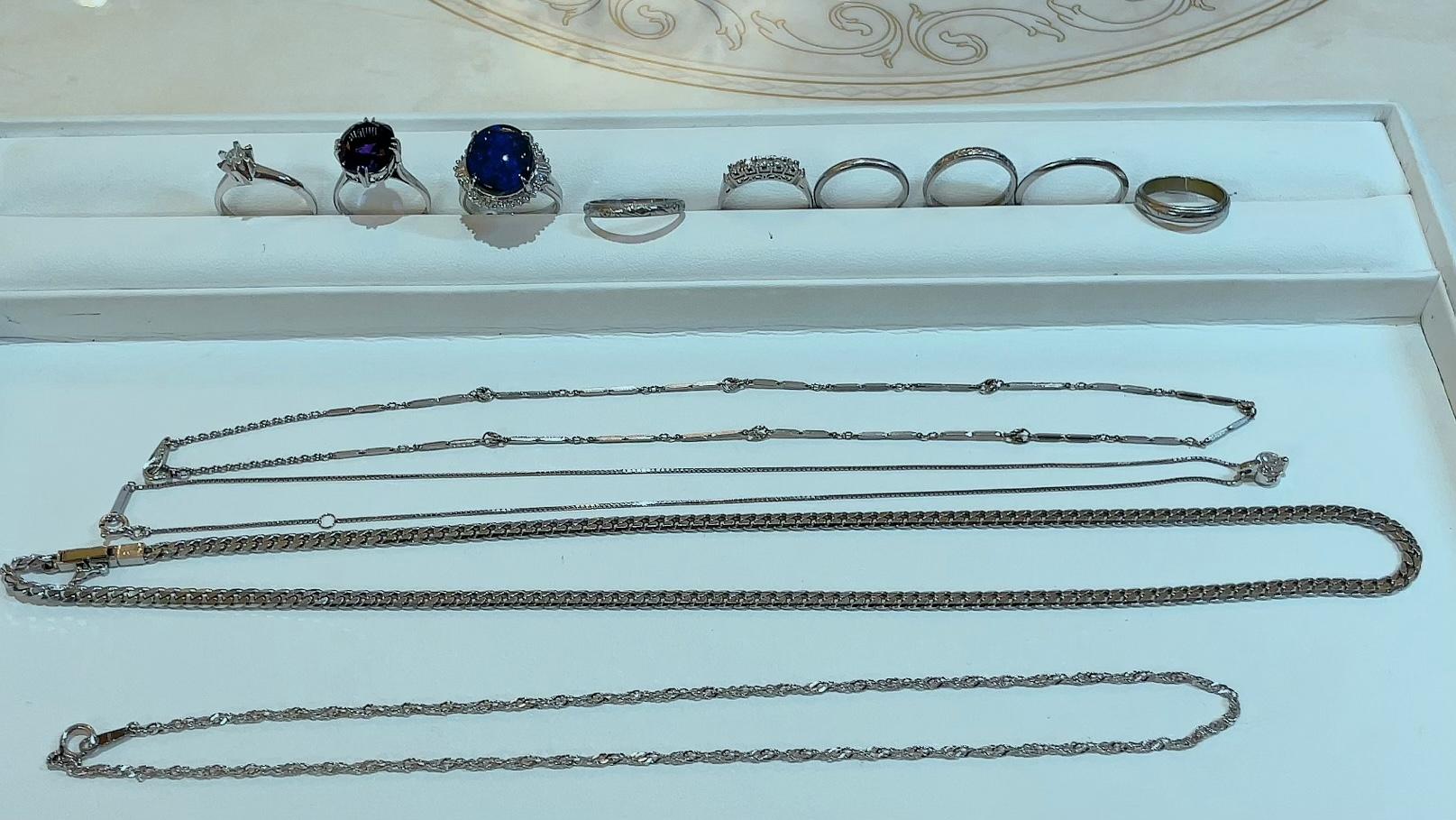 【買取速報】アメジスト、オパール、ダイヤモンド、ブラックオパール、ネックレス、ペンダント、喜-2021-09-07