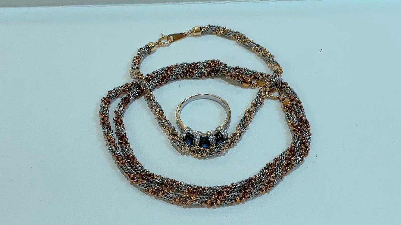 【買取速報】サファイヤ、ダイヤモンド、ネックレス、ブレスレット、指輪、K18YG、PT850、PT900-2021-09-07