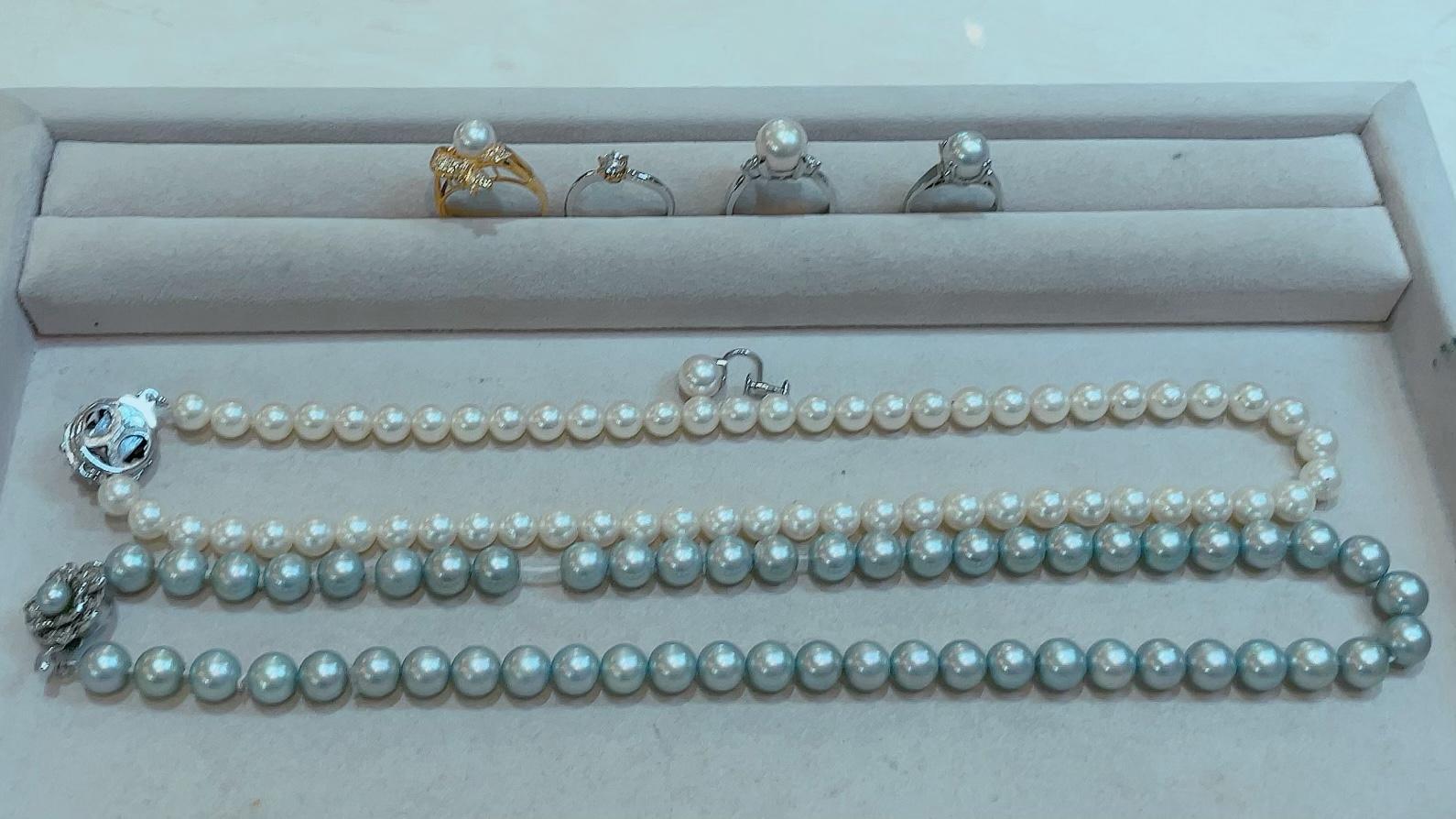 【買取速報】グレーパール、ダイヤモンド、パール、チョーカー、ネックレス、ピアス・イヤリング、-2021-09-17