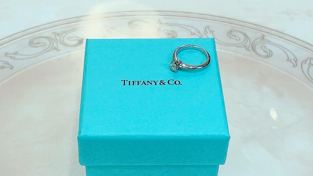 【買取速報】ダイヤモンド、婚約指輪・エンゲージリング、指輪、PT950、Tiffany & Co.-2021-09-21