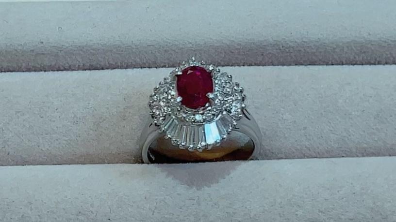 【買取速報】ダイヤモンド、ルビー、指輪、PT900-2021-09-23