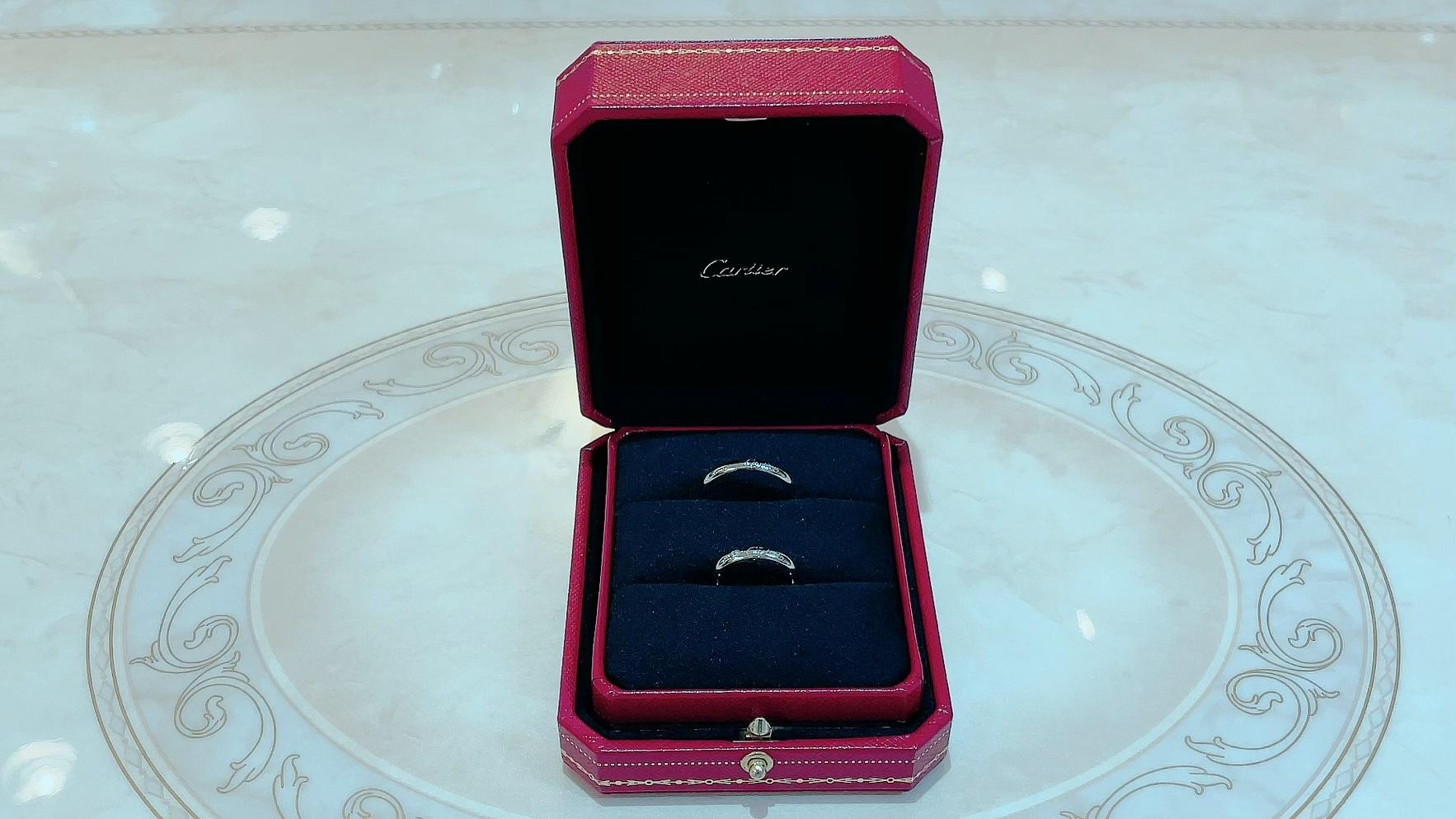 【買取速報】ダイヤモンド、指輪、結婚指輪・マリッジリング、PT950、Cartier-2021-09-11