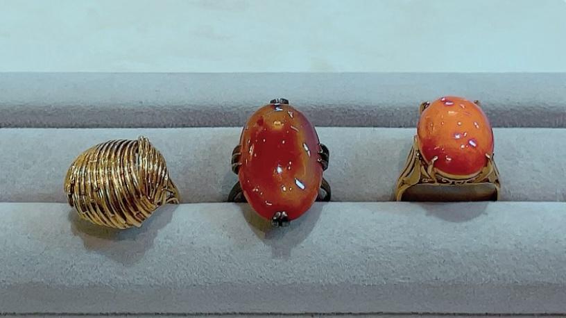 【買取速報】メノー、珊瑚(コーラル)、指輪、K18YG-2021-09-21