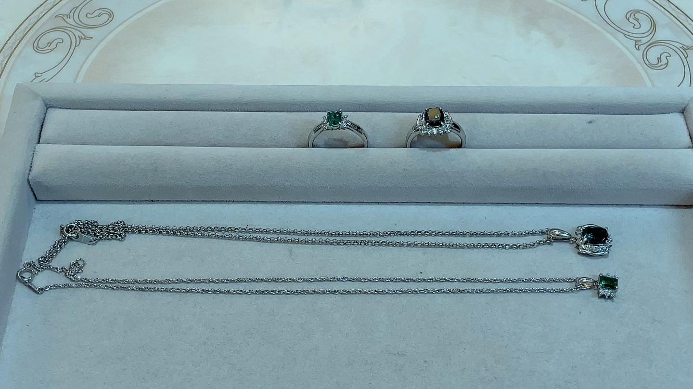 【買取速報】アレキサンドライト、エメラルド、ダイヤモンド、ペンダント、指輪、PT850、PT950、ク-2021-09-10