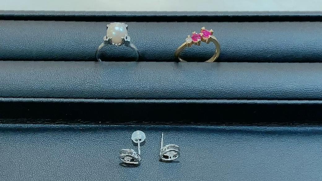 【買取速報】ダイヤモンド、ルビー、ピアス・イヤリング、指輪、K14WG、K18WG、K18YG-2021-09-03