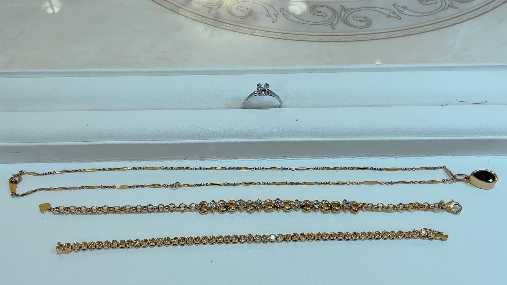 【買取速報】ガーネット、ダイヤモンド、ブレスレット、ペンダント、指輪、K18YG、PM-2021-10-13