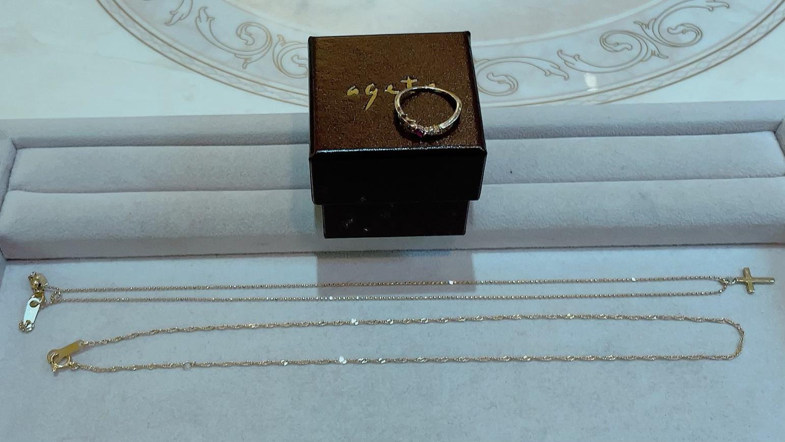 【買取速報】ダイヤモンド、ルビー、ネックレス、指輪、K10YG、K18YG、agete-2021-10-09