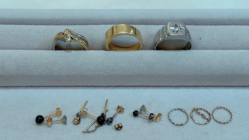 【買取速報】オニキス、ダイヤモンド、ピアス・イヤリング、メンズ、指輪、K14WG、K18WG、K18YG、P-2021-10-09