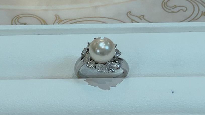 【買取速報】ダイヤモンド、パール、指輪、PT950-2021-10-01